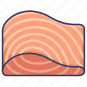 food, salmon, smoked icon
