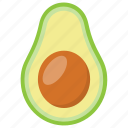 avocado, butter fruit, healthy fruit, pear, sweet fruit icon