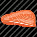 beef steak, meat slice, muscle fibre meat, red meat, steak icon