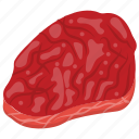 beef, mutton, pork, raw meat, red meat icon