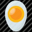 cooked egg, egg, egg yolk, half fried egg, healthy breakfast icon