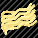 italian pasta, noodles, pasta, spaghetti, spiral noodles icon