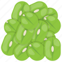 chickpeas, green beans, lima beans, seeds, seeds salad icon