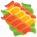 food, italian cuisine, meal, noodles, tri color pasta icon