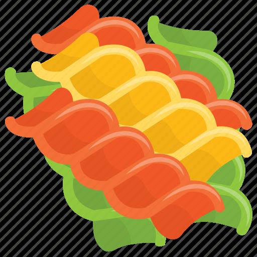 food, italian cuisine, meal, noodles, tri color pasta icon