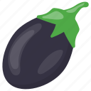 aubergine, brinjal, eggplant, food, vegetable icon