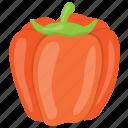 bell pepper, capcicum, pepper, sweet pepper, vegetable icon