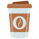 cappuccino, coffee, refreshing drink, smoothie drink, takeaway drink icon