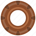 bakery, brownie, cake, dessert, donut icon