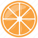 citrus fruit, citrus slice, half of citrus, orange, orange slice icon