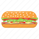 burger, chicken burger, sandwich, sesame burger, stuffed burger icon