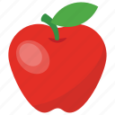apple, fibre fruit, health fruit, healthy diet, nutritious fruit icon