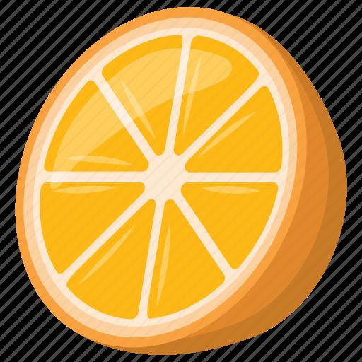 citrus fruit, citrus slice, half of citrus, orange, orange slice icon