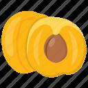 apricot, fibre fruit, nutritious fruit, rosy fruit, sweet fruit icon