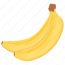bananas, bunch of bananas, fibre fruit, healthy diet, healthy fruit icon