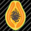 fleshy fruit, papaya, papaya calories, papaya nutrition, pawpaw icon