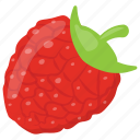 fresh strawberry, healthy food, porous fruit, red berries, strawberry icon