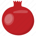 juicy fruit, pomegranate, pomegranate seeds, red pomegranate, seedy fruit icon