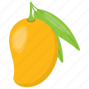 healthy diet, mango, pulpy fruit, ripe mango, yellow fruit icon