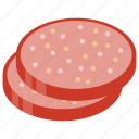 ground meat, meat product, pork, sausage, veal sausage icon