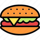 burger, sandwich, breakfast, food, cheese, snack, lunch