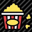 corn, food, meal, pop, popcorn, snack
