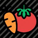tomato, carrot, food, vegetables, health