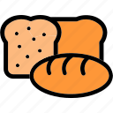 long-loaf, baguette, bakery, bread, eating, food, breakfast