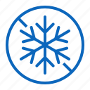 do, freeze, fresh, frost, not icon