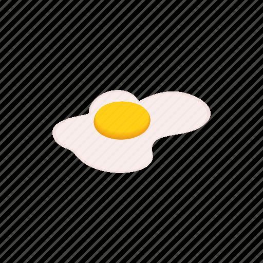 cartoon, design, egg, element, isolated, isometric, scrambled icon