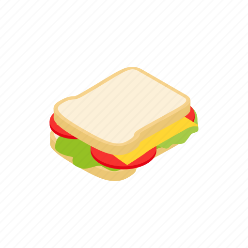 cheese isometric sandwich isolated element design cartoon icon download cheese isometric sandwich isolated element design cartoon icon download