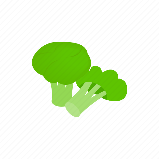 broccoli, cartoon, design, element, isolated, isometric, vegetarian icon