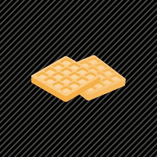 cartoon, design, element, isolated, isometric, specialty, waffle icon