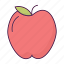 apple, breakfast, dessert, eat, food icon