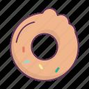 breakfast, bun, dessert, donut, food icon