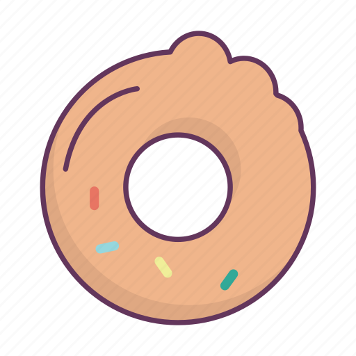 breakfast, bun, dessert, donut, food icon