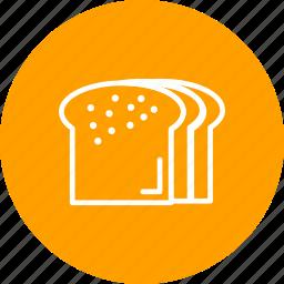 bread, breakfast, eat, food, toast icon