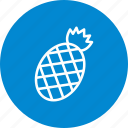 ananas, fruit, pineapple icon