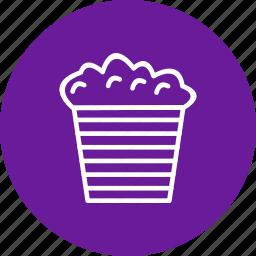 corn, fastfood, popcorn, snack icon