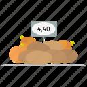 farm, nutritious, onions, potatoes, price, vegetables icon