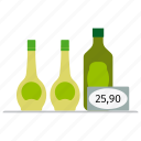 bottle, corn, fresh, oil, olive, price, rapeseed, sunflower icon