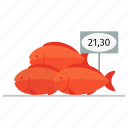 fish, fresh, market, pacific beak, price, red, sea bass, supermarket icon