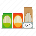 capellini, pack, pasta, price, spaghetti, store icon