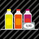 bottles, cola, drink, price, shop, soda