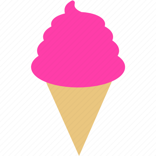 dessert, ice cream, ice cream cone, summer, sweet icon