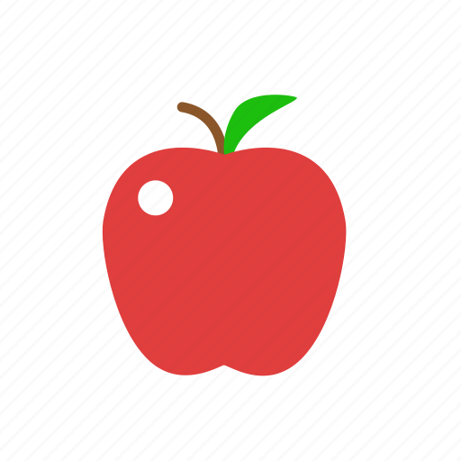 apple, crunchy, fresh apple, fruit, red icon