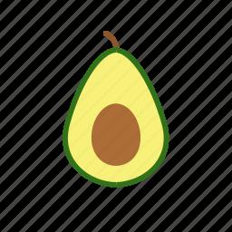 avocado, food, fruit icon