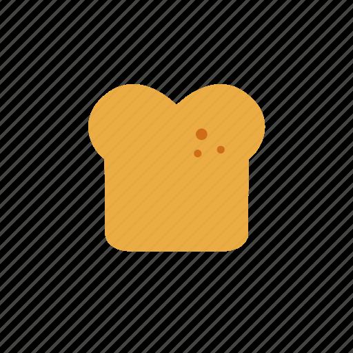 bread, bread slice, breakfast, toast icon