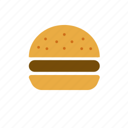 beef, bun, burger, hamburger, junk food icon