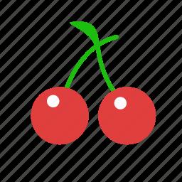 cherries, cherry, fruit icon